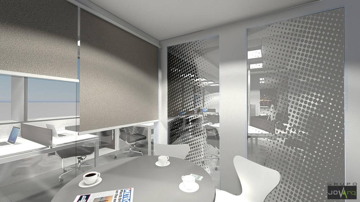 Oficina Legacys, Centro Plaza Grupo JOV Arquitectos Oficinas de estilo minimalista Mármol Blanco