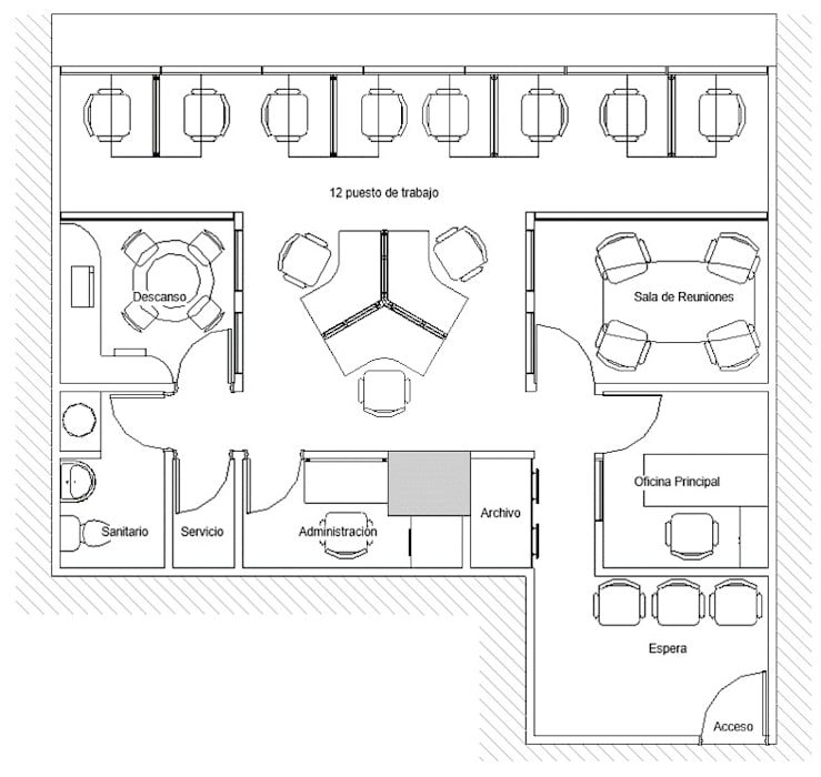 Oficina Legacys, Centro Plaza: Oficinas de estilo  por Grupo JOV Arquitectos