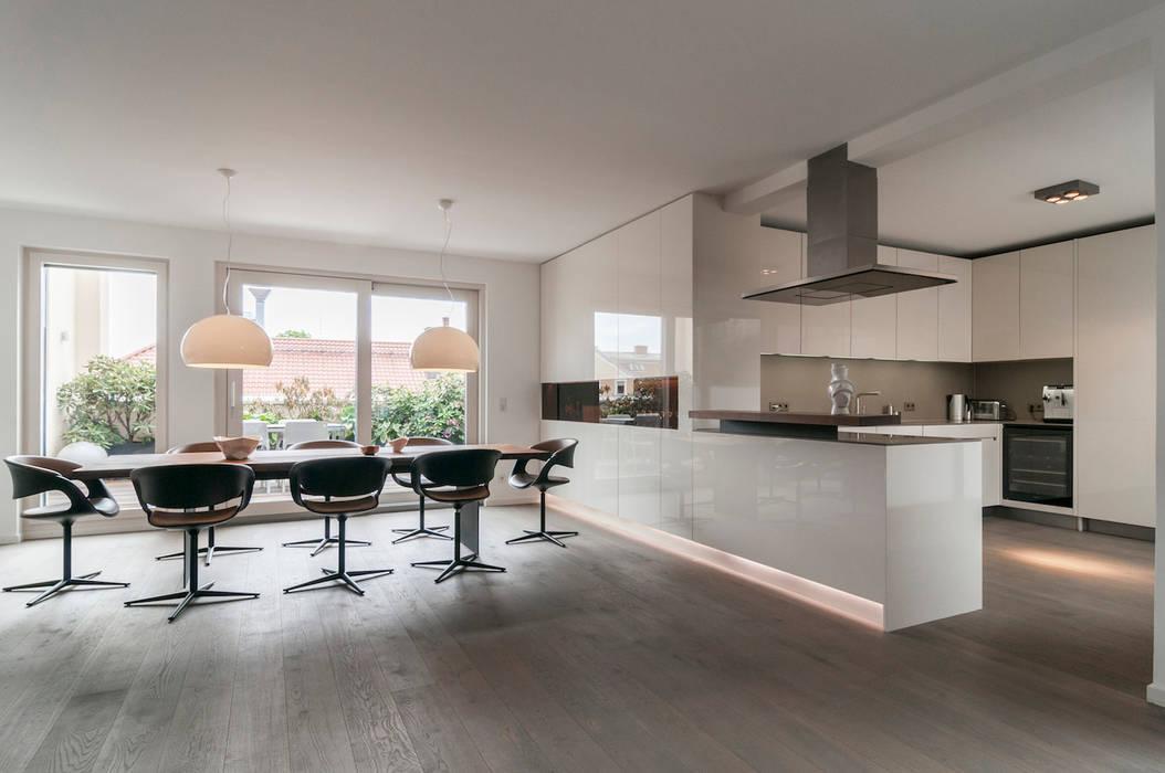 Küche essbereich in penthouse | münchen: küche von egg and dart ...