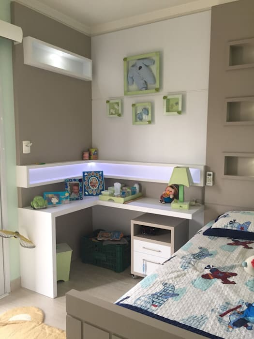 Quarto Infantil   Menino: Quarto Infantil Por Up Decor Interiores