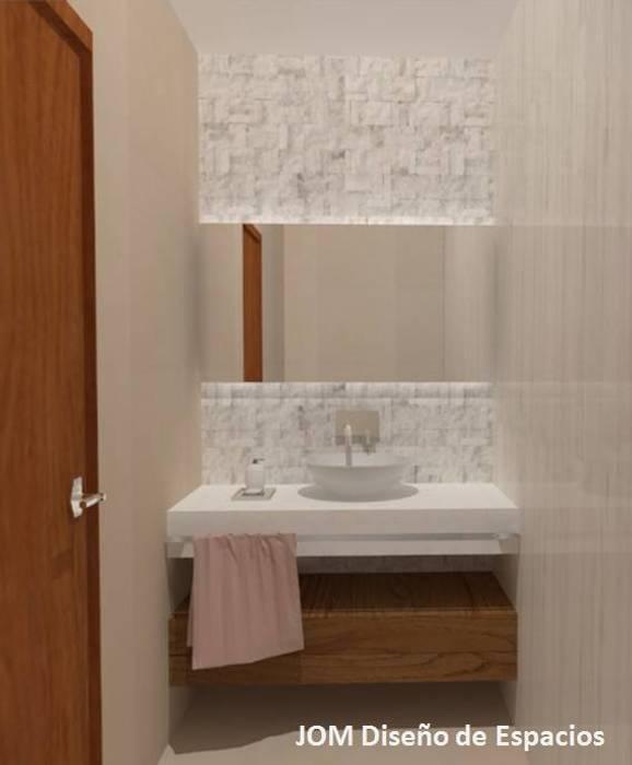 Baño principal: Baños de estilo minimalista por JOM Diseño de Espacios