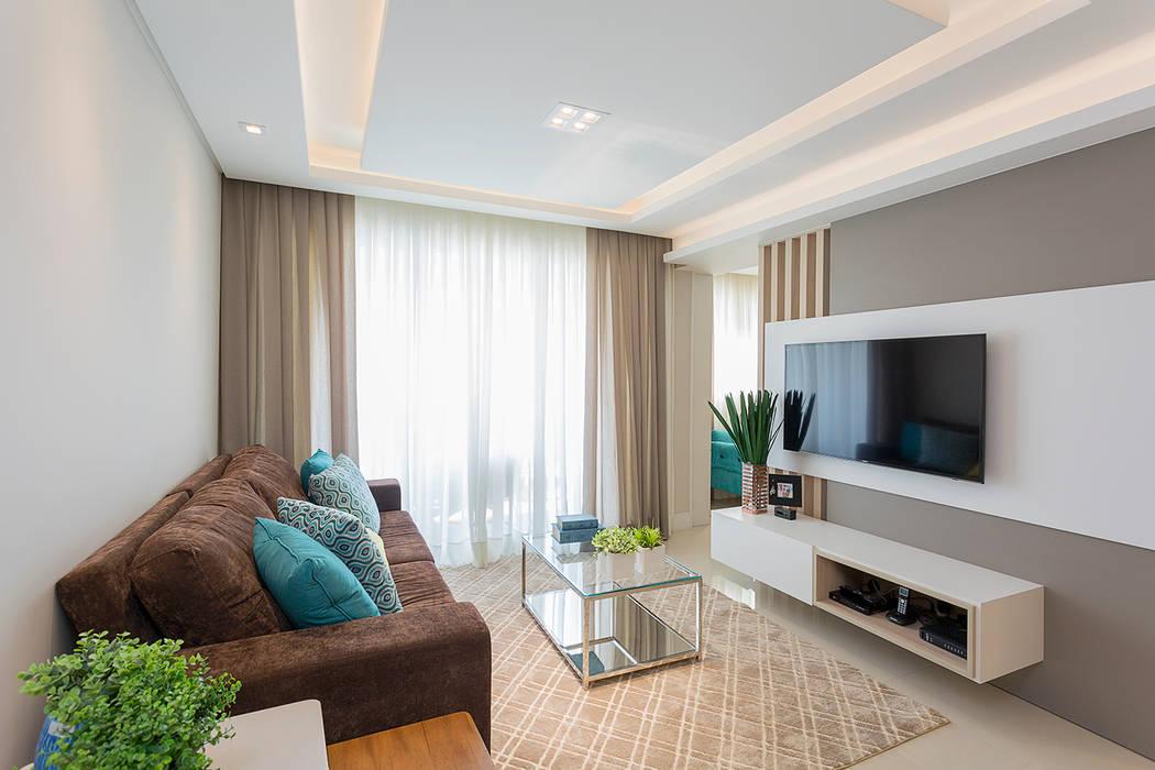 Projeto CV Salas de estar modernas por Juliana Agner Arquitetura e Interiores Moderno