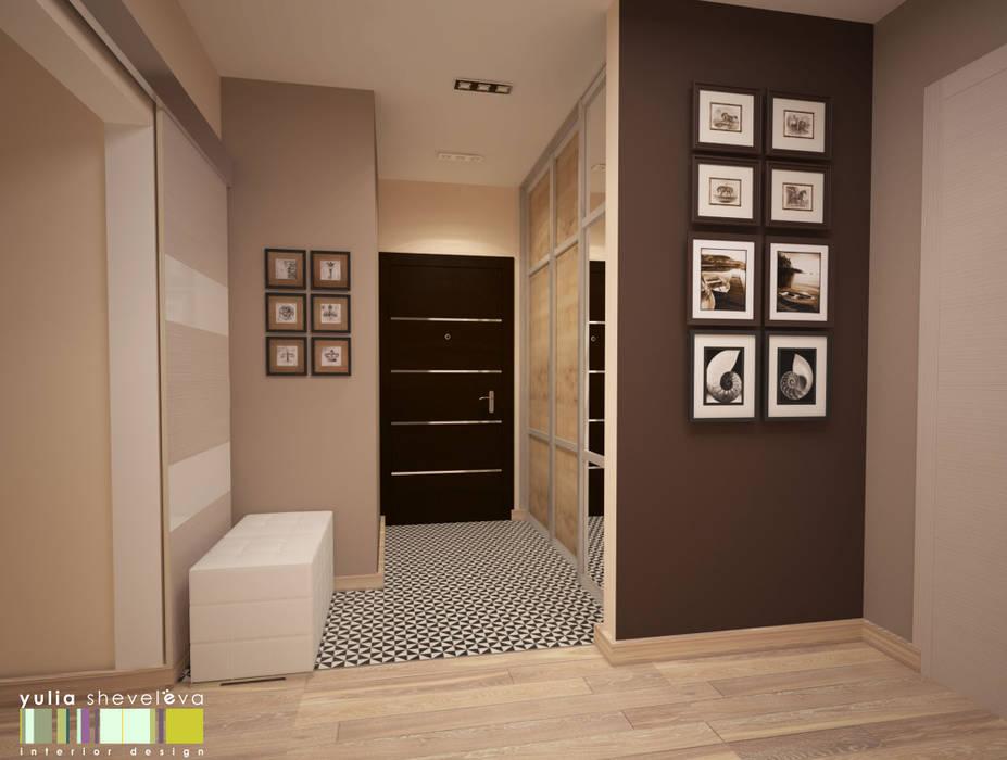 Corredores, halls e escadas modernos por Мастерская интерьера Юлии Шевелевой Moderno