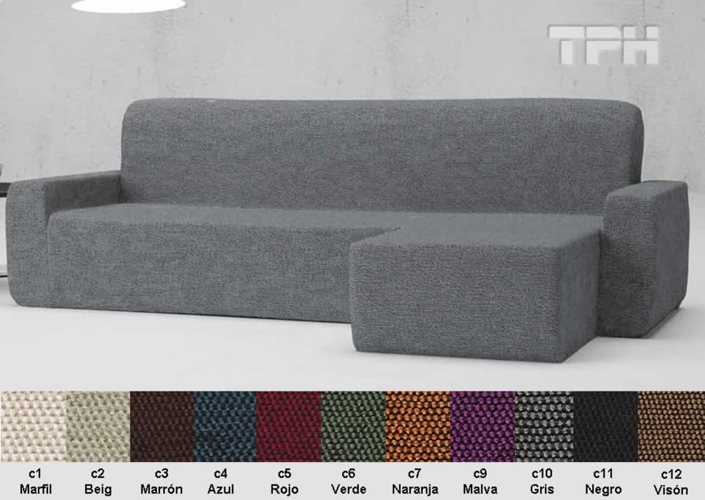 fba56f3bb78a Funda chaise longue viena: salones de estilo de tph fundas de sofá ...
