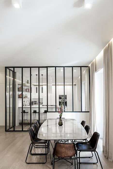 Salone: Soggiorno in stile in stile Moderno di Archenjoy - Studio di Architettura -