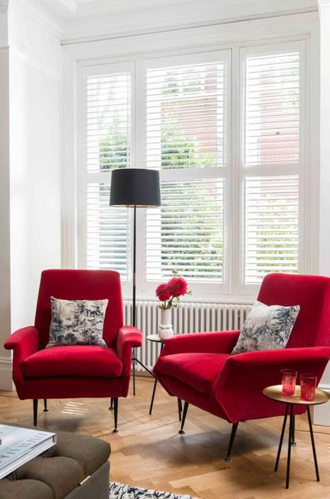 Whitehall Park Residential: modern  by SWM Interiors & Sourcing Ltd, Modern Cotton Red