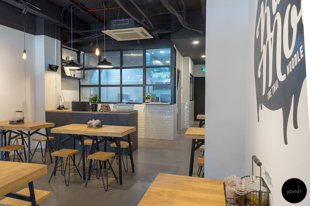 See through kitchen Rustic style gastronomy by Y&T Pte Ltd Rustic