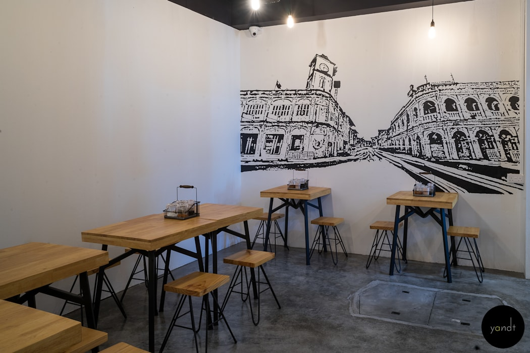 Back seating area Rustic style gastronomy by Y&T Pte Ltd Rustic