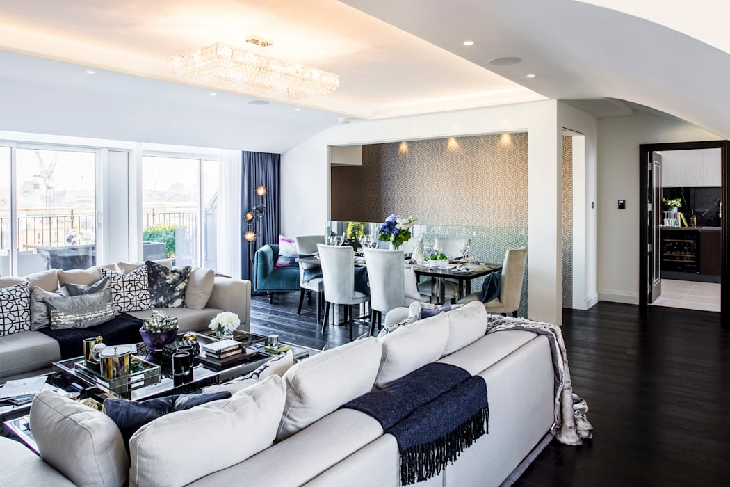 St James Park, Westminster SW1H, London | Penthouse alterations & refurbishment:  Living room by GOAStudio | London residential architecture