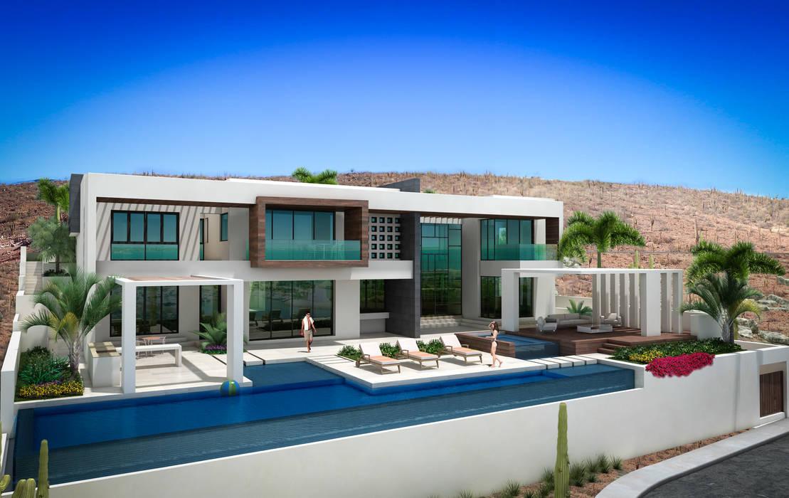 Casas estilo moderno: ideas, arquitectura e imágenes de arquitectura GOSSELIN Moderno