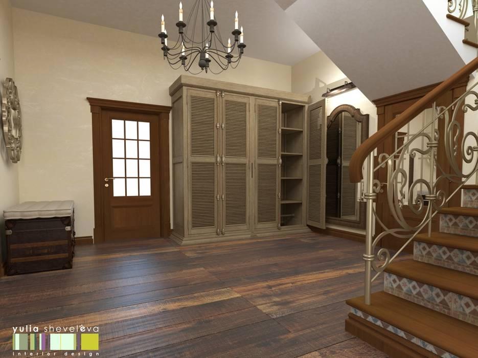 БОН ВОЯЖ Коридор, прихожая и лестница в классическом стиле от Мастерская интерьера Юлии Шевелевой Классический