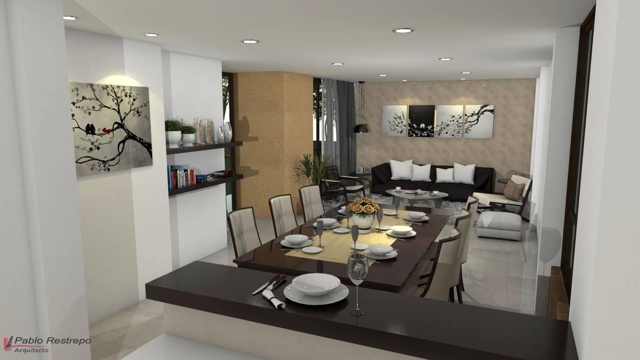 Dise o interior de sala comedor comedores de estilo por for Paginas de decoracion de interiores de casas