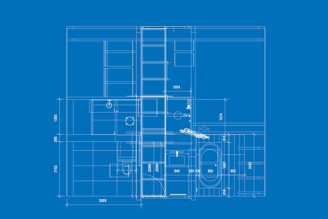 Grundriss zum blauen bad moderne badezimmer von raum.4 - die ...