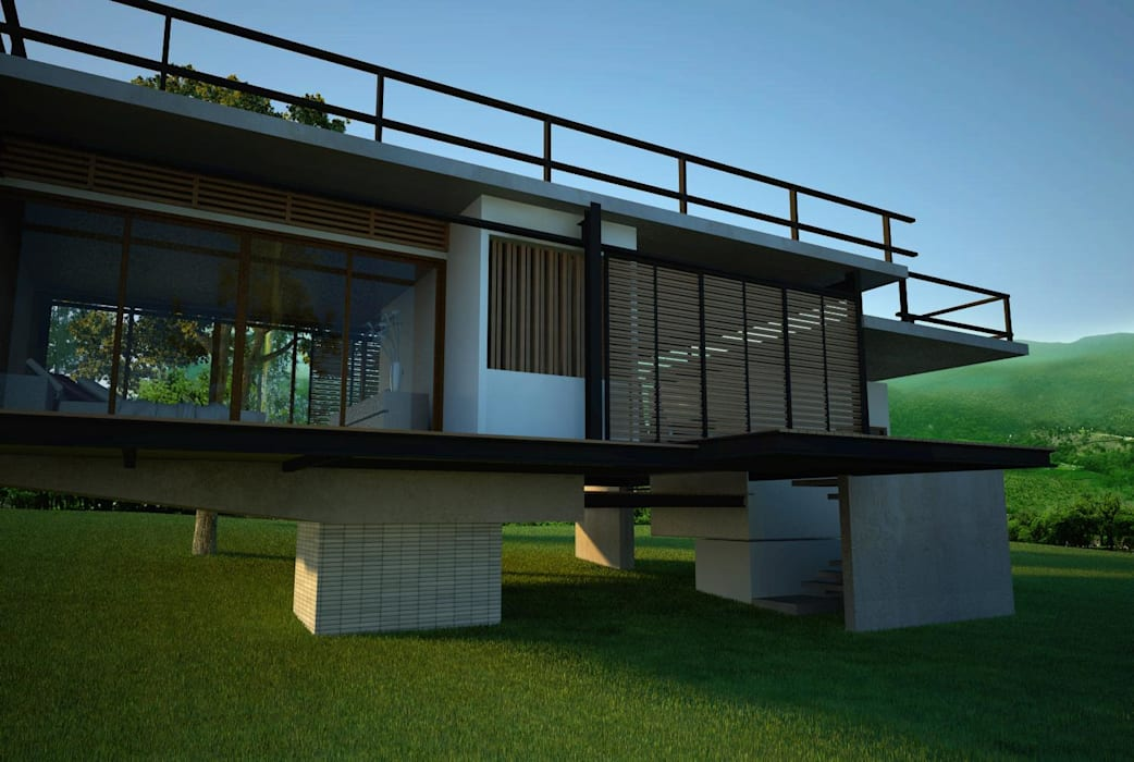 Eclectic style houses by LEVEL ARCHITECT Eclectic