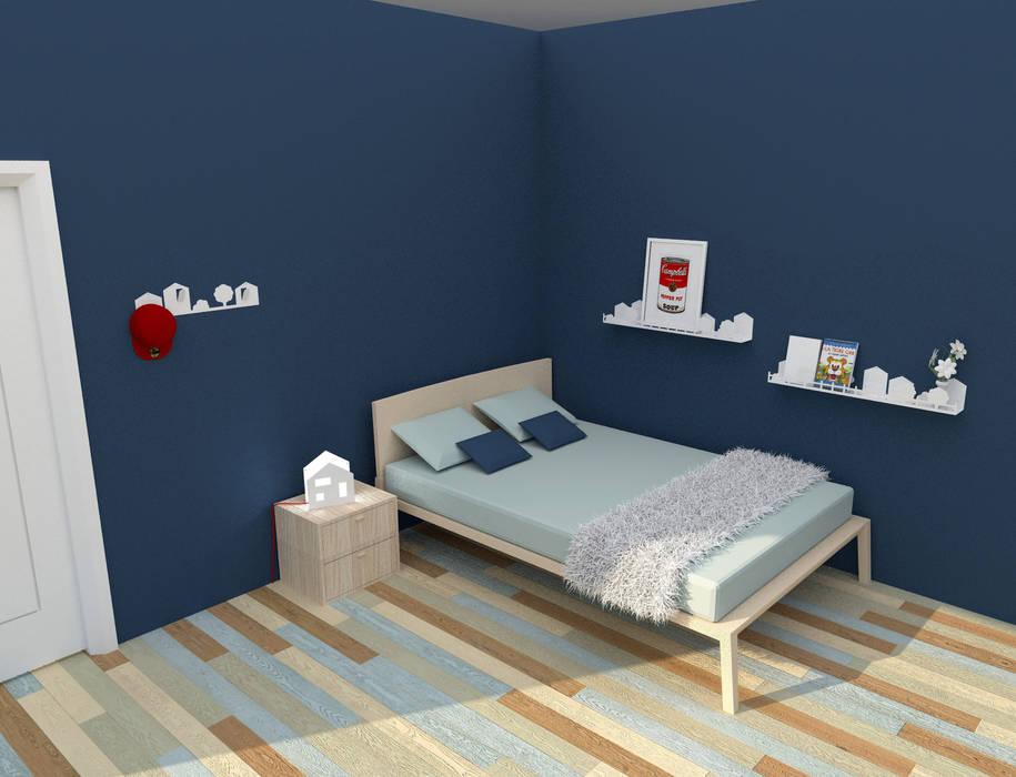 Cameretta: Camera da letto in stile in stile Moderno di IAR Design di Romeo Alessandro