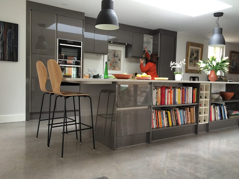 Kitchen extension by O2i Design Consultants Minimalist Concrete