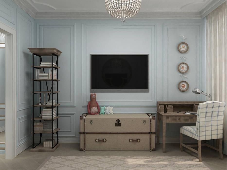Chambre d'enfant de style  par Студия дизайна интерьера в Москве 'Юдин и Новиков', Moderne