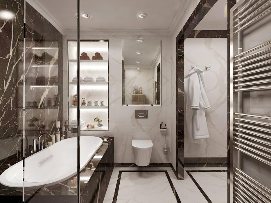 Salle de bains de style  par Студия дизайна интерьера в Москве 'Юдин и Новиков', Moderne