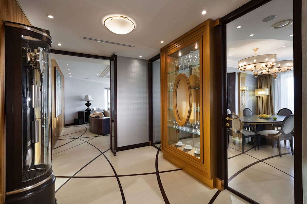 Pasillos y vestíbulos de estilo  de Студия дизайна интерьера в Москве 'Юдин и Новиков', Moderno