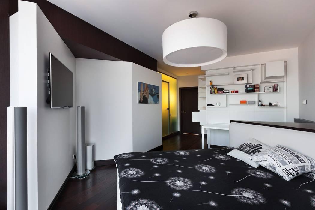 Dormitorios de estilo  de Студия дизайна интерьера в Москве 'Юдин и Новиков', Moderno