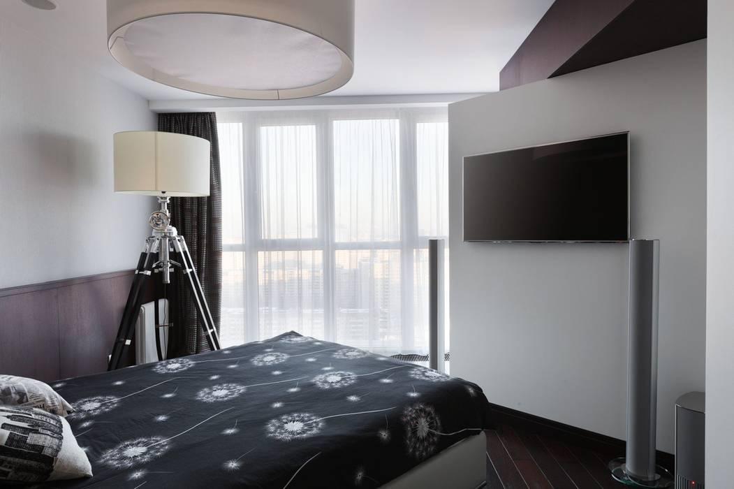 Moderne Schlafzimmer von Студия дизайна интерьера в Москве 'Юдин и Новиков' Modern