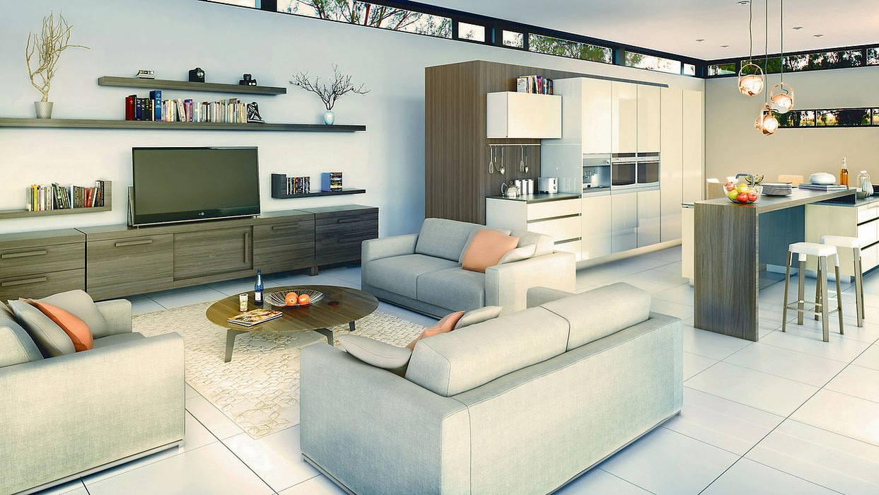 Living room by REIS, Modern