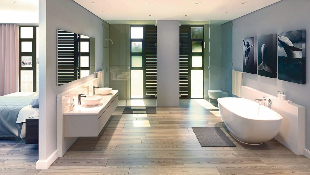 Bathroom by REIS, Modern