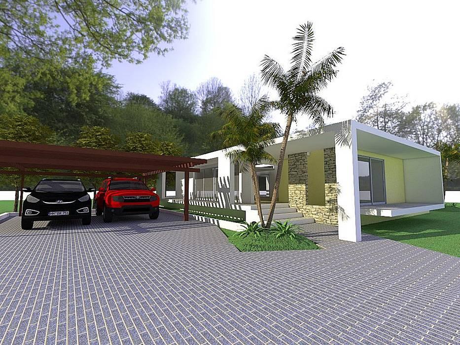 casa de campo Arq Hernando Fuentes Diseños Casas de estilo minimalista Concreto Beige