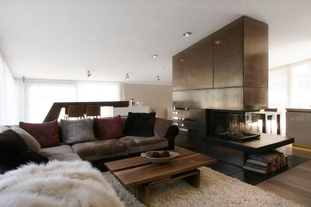 Wohnraum kamin lounge bar: wohnzimmer von egg and dart ...