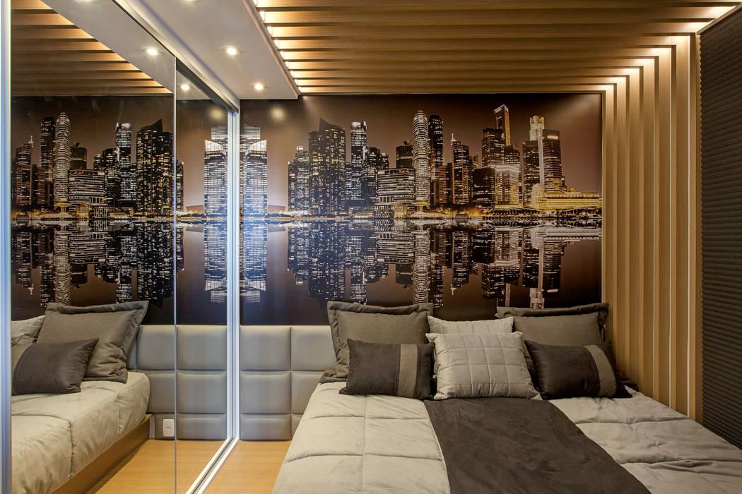 Modern Bedroom by Designer de Interiores e Paisagista Iara Kílaris Modern Wood Wood effect