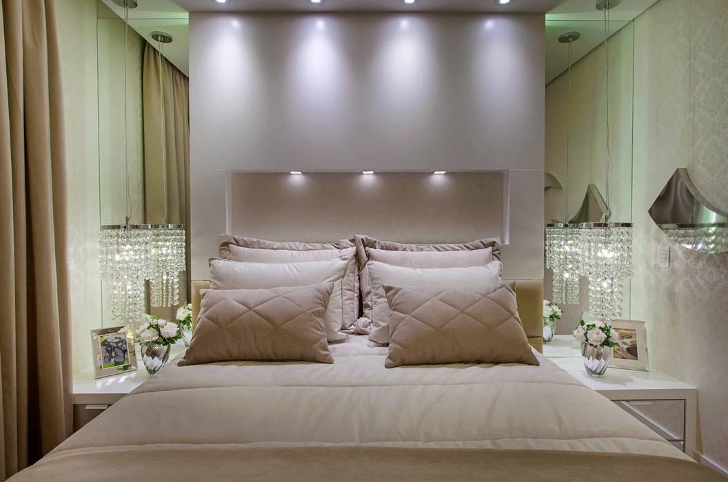 Apartamento Jundiaí: Quartos  por Designer de Interiores e Paisagista Iara Kílaris,Moderno