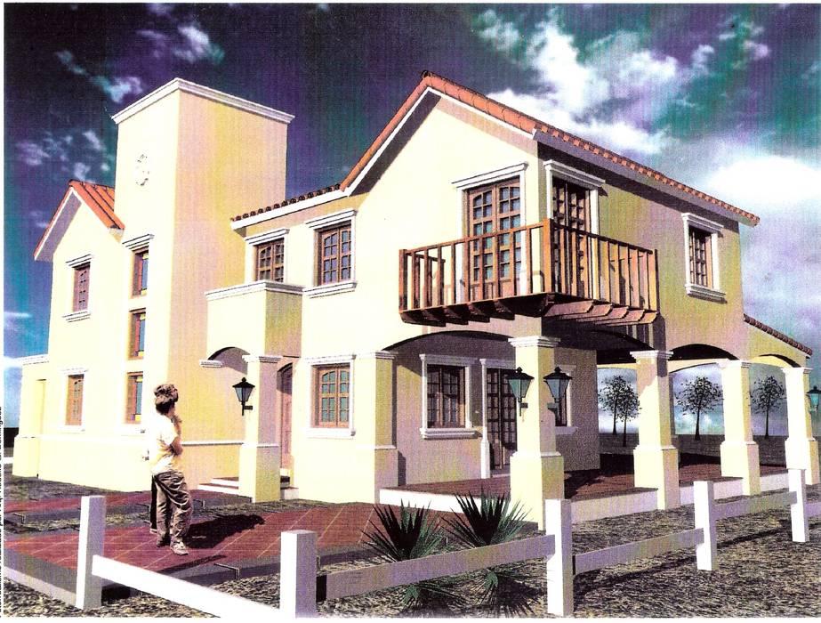 Proyecto de casa unifamiliar Casas coloniales de Valy Colonial Ladrillos