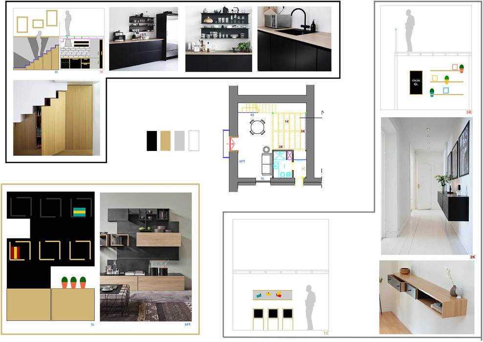 Soluzione uno: Cucina in stile in stile Moderno di Arch 'n Design