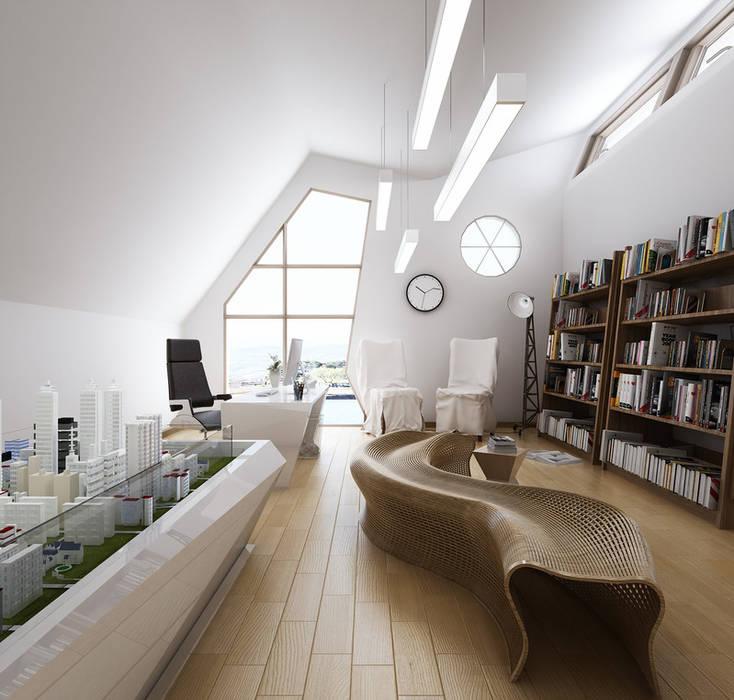 Architectural Rendering Services Wonstudios: Oficinas y Tiendas de estilo  por Wonstudios