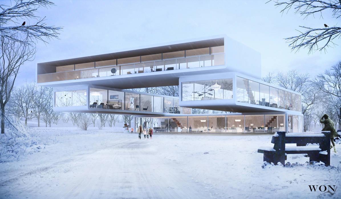 Architectural Rendering Services Wonstudios: Galerías y espacios comerciales de estilo  por Wonstudios