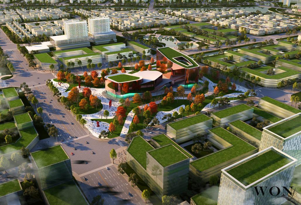 Architectural Rendering Services Wonstudios Centros de exposiciones de estilo moderno de Wonstudios Moderno