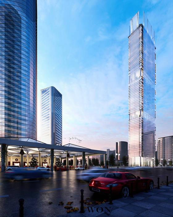 Architectural Rendering Services Wonstudios: Edificios de Oficinas de estilo  por Wonstudios