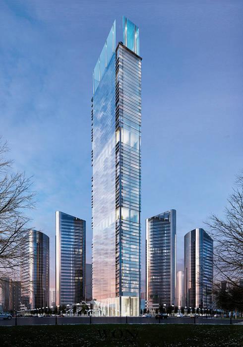 Architectural Rendering Services Wonstudios Edificios de oficinas de estilo moderno de Wonstudios Moderno