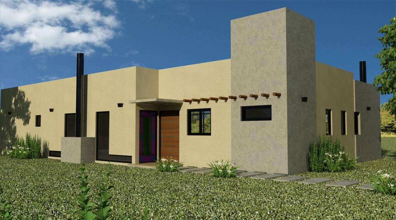 Proyecto casa unifamiliar: Casas de estilo minimalista por Valy