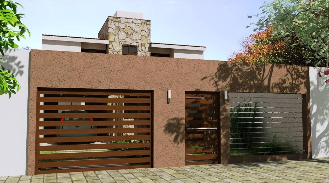Proyecto de Remodelación y cambio de fachada: Casas de estilo moderno por Valy