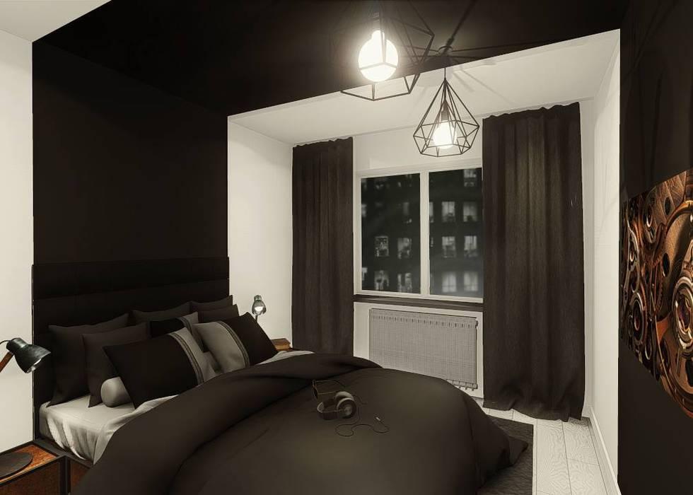 Industral apartment:  Bedroom by KOKON zespół architektoniczny,