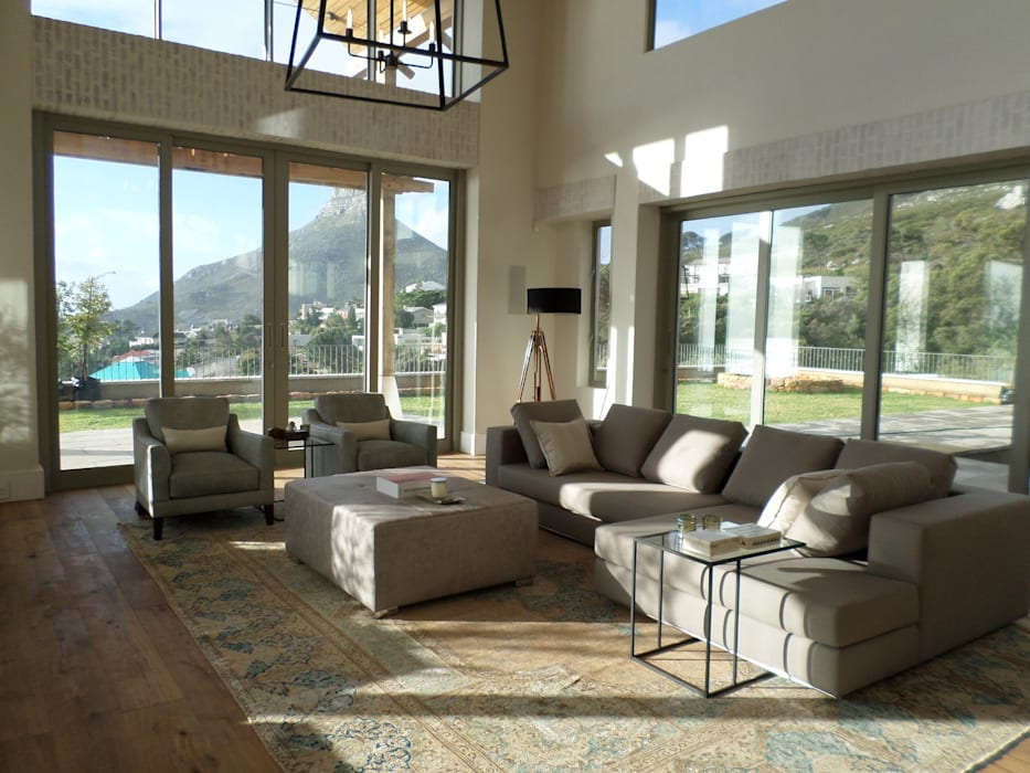 Formal Sitting Room homify Living roomSofas & armchairs Cotton Grey