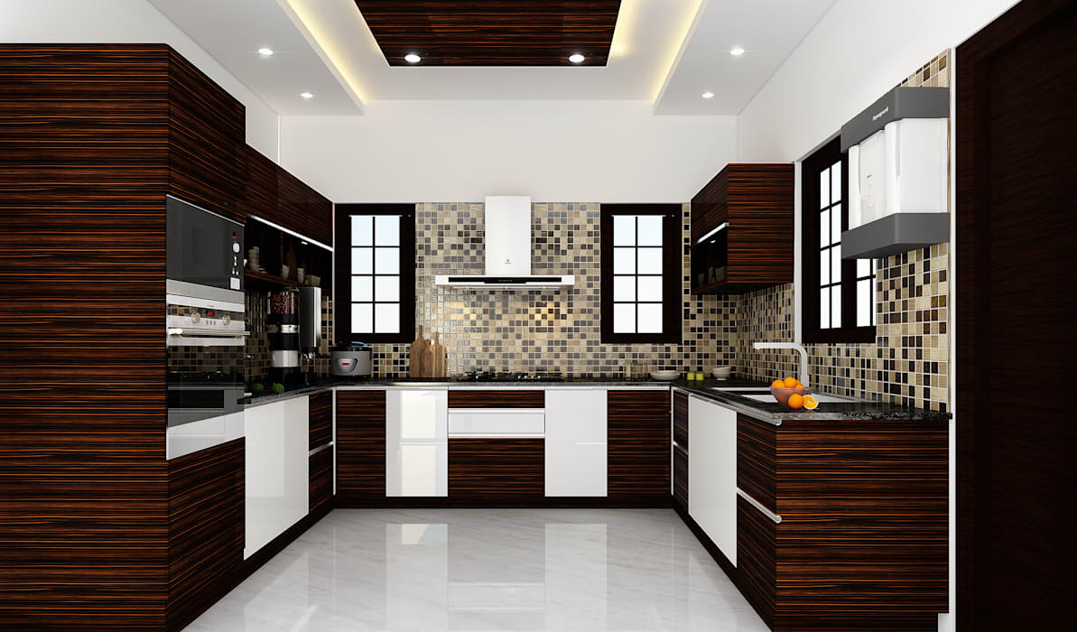 Kitchen Karigar Kreation Architects KitchenCabinets & shelves