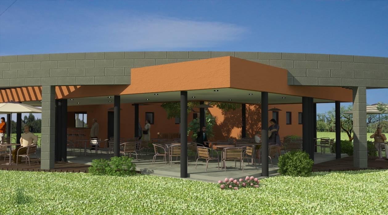 Proyecto de Confitería y Vestuarios con Sala de Emergencias para un club Casas modernas: Ideas, imágenes y decoración de Valy Moderno Ladrillos