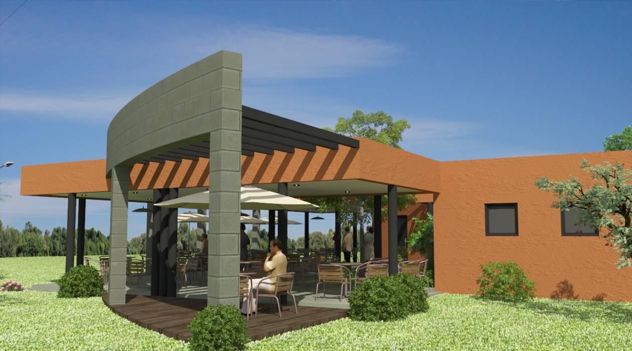 Proyecto de Confitería y Vestuarios con Sala de Emergencias para un club: Jardines de estilo  por Valy