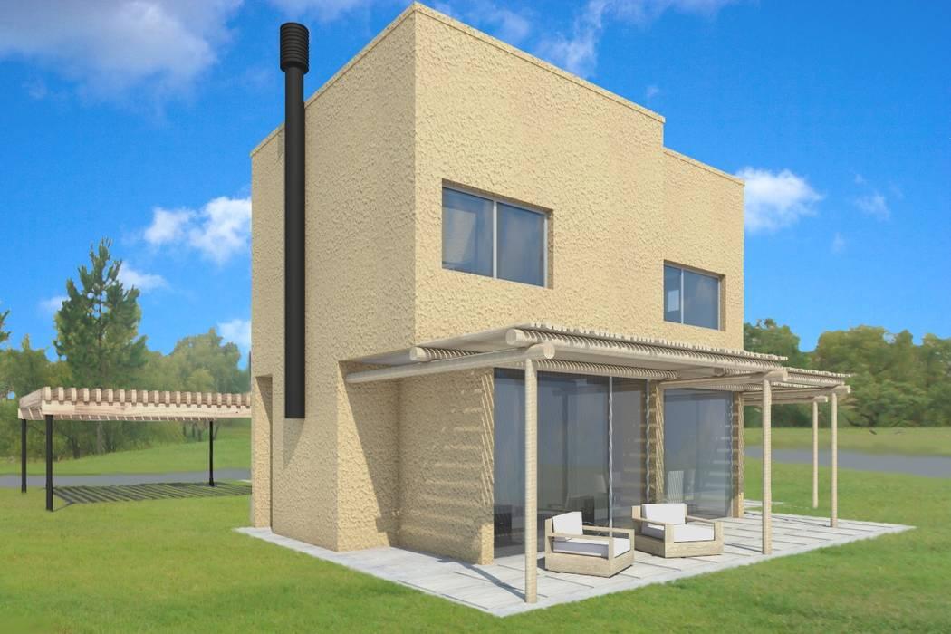 Casa Unifamiliar . Tigre Argentina: Casas de estilo rústico por CG+