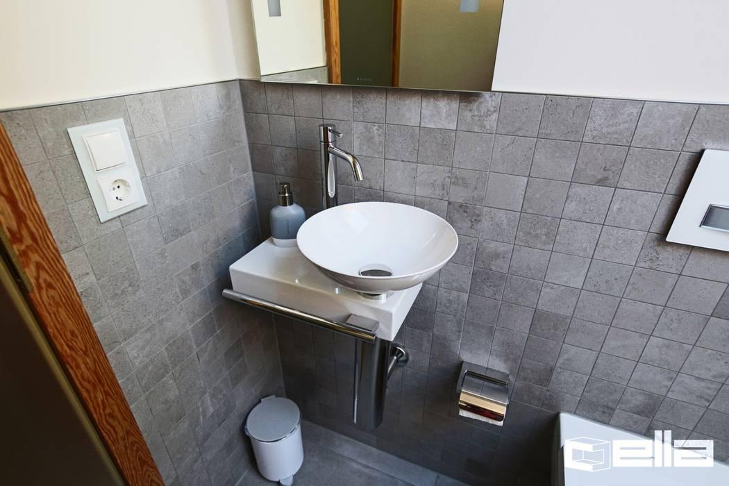 Stilvolles Gaste Wc Mit Mosaikfliesen In Gauting Cella Gmbh Moderne Badezimmer Fliesen Beige Homify