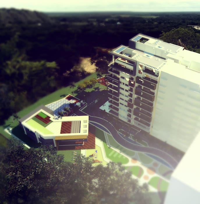 VISTA AÉREA : Casas de estilo  por IngeniARQ