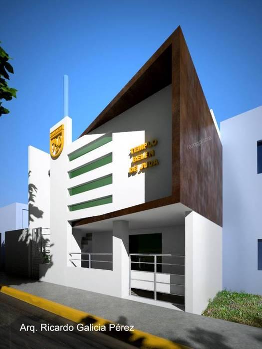 Casas de estilo moderno por GALICIA AV Arquitectura más Virtual