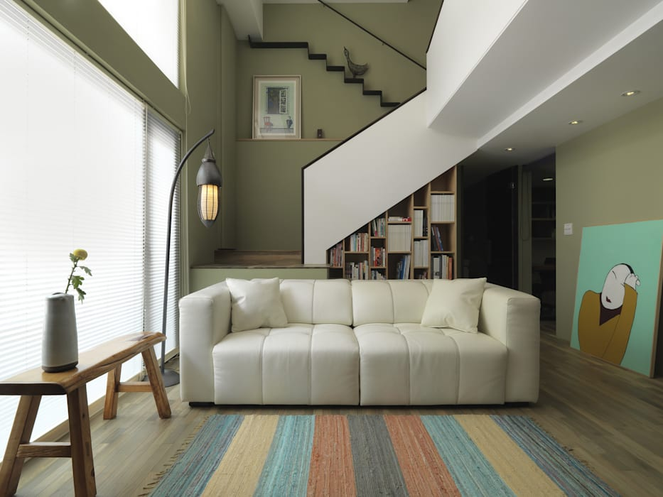 Salon de style  par 賀澤室內設計 HOZO_interior_design